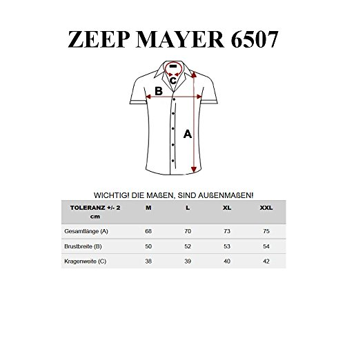 BOLF– Chemise casual – manches courtes – ZEEP MAYER 6507 – Homme Blanc-Rose