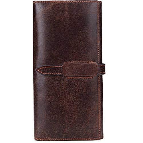 CYY Lange Brieftasche Herren und Frauen allgemeine Verwendung Öl Wachs Ledertasche Mehrzweck Brieftasche 19,5cm *10cm *3cm - Brieftasche Mehrzweck