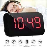 Petit Réveil LED numérique avec gradateur et Snooze, Affichage Grand Chiffre...