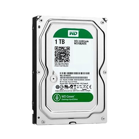 Western Digital WD10EARX 1TB interne Festplatte (8,9 cm (3,5 Zoll), 5400rpm, 64MB Cache, SATA III) grün oder blau- Auswahl ist nicht