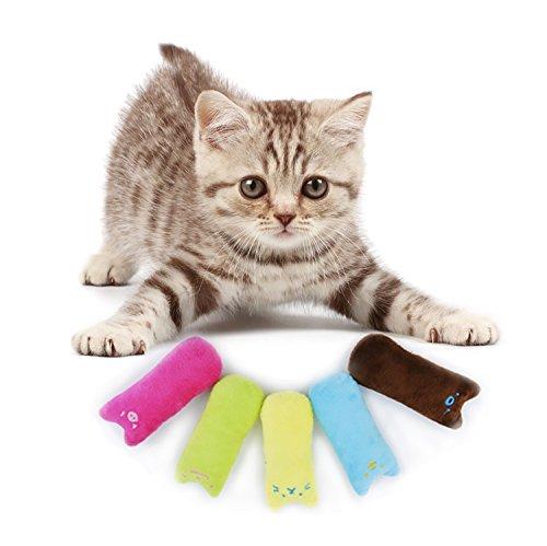 Legendog Spielzeug mit Katzenminze, 5 Stück Niedlich Plüsch Daumen Geformt Katzenspielzeug Katzenminze Set   Katzenspielzeug Beschäftigung   Spielzeug Katze   Spiele für Katzen Kitten (Geformt Daumen)