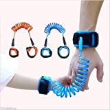 Trade Shop traesio – Armband Sicherheit Kinder Anti-verloren verstellbar blau orange Hundeleine