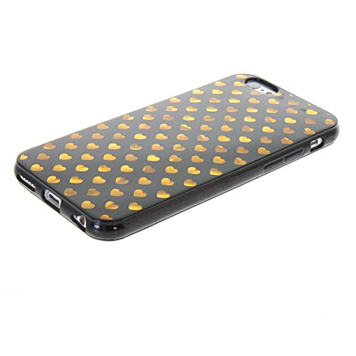 MOONCASE Gel TPU Silicone Housse Coque Etui Case Cover pour Apple iPhone 6 ( 4.7 inch ) Noir 02