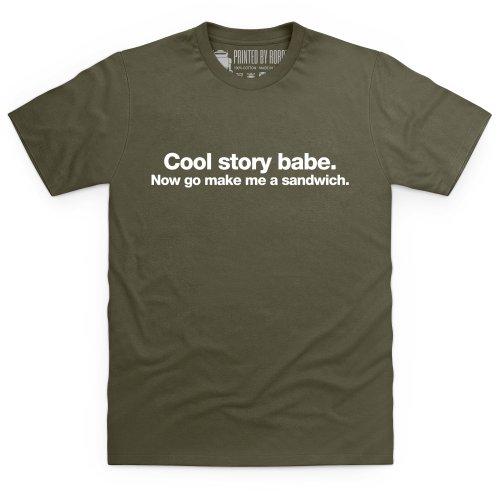 Cool Story Babe T-Shirt, Herren Olivgrn