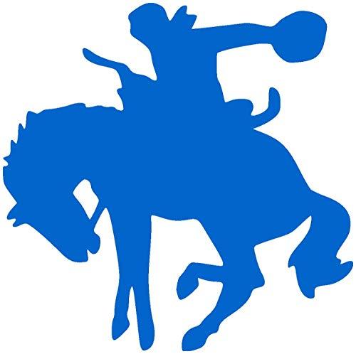 Samunshi® Pferde Aufkleber Rodeo in 7 Größen und 25 Farben (20x20cm azurblau)
