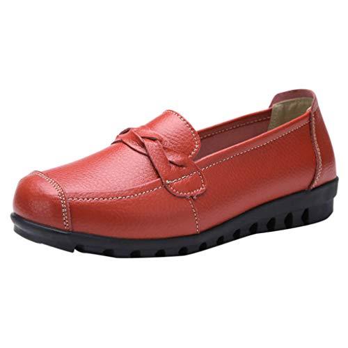 Damen Mokassins Bootsschuhe Leder Loafers Freizeit Schuhe Flache Fahren Halbschuhe Slippers By Vovotrade