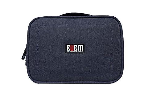 BUBM Kopfhörer Wasserdichte Reise Schutzhülle für Digital Data Kabel USB Organizer Elektronik und Zubehör Aufbewahrungstasche Board blau dunkelblau