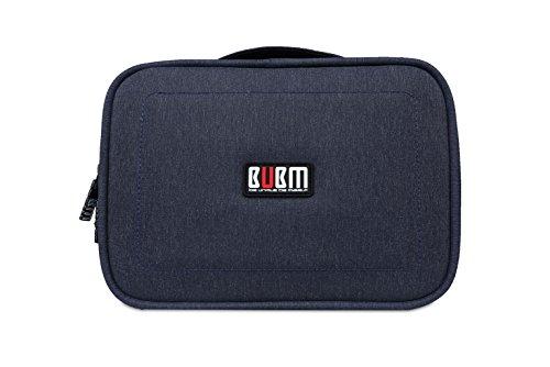 BUBM impermeabile Custodia da viaggio per digitale cavo dati USB Organizer Elettronica e Accessori Storage Bag Board blu Dark Blue
