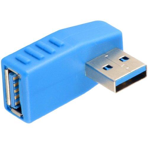 USB 3.0 Vertikale männlich zu weiblich Adapter Super Speed (2 Pack) (Adapter Vertikale)