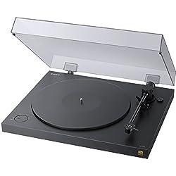 Sony PS-HX500 Giradischi Hi-Res Audio, EQ Phono, USB, Nero