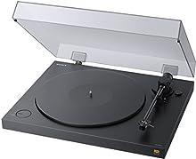 Sony PS-HX500 Giradischi con Hi-Res Audio, Uscita USB per Conversione Digitale, Fono EQ Integrato, Nero