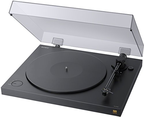 Sony PS-HX500 Plattenspieler (High-Resolution-Audio-Ripping-Funktion, Aufnahme Double-DSD Format, USB, A/D Wandler) Schwarz