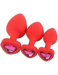 Plug Anales Mujer Kit / 3 Pieza LHWY, Plug Anales Mujer Silicona Plug Anales Cristal Juguete Sexual Hombre Y Mujer