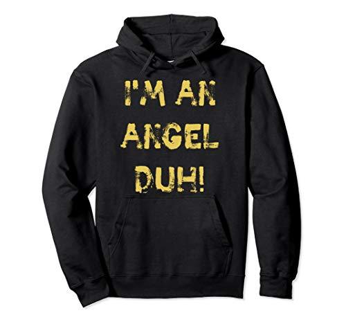 I'm an Angel Duh, lustig, DIY Halloween Weihnachten Kostüm Pullover Hoodie (Black Halo Kostüm)