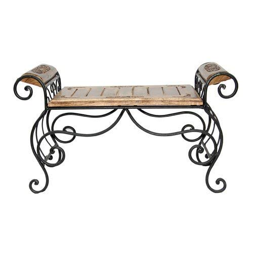 Abs collection Wooden & Wrought Iron Center Table/Bench for Living Room/Lounge Furniture