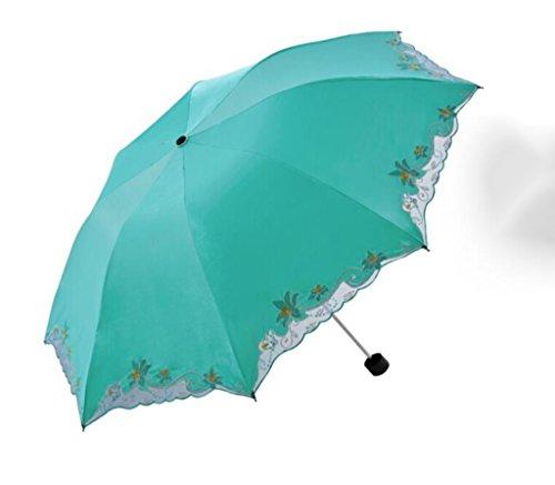 HCJYS Drei-Schicht-Regenschirm-Klappschirm Stahlstange Aluminium Skelett Regenschirm