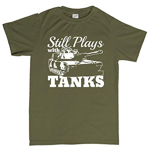 Still Plays With Tanks WWII World War of 1939 Panzer T Shirt