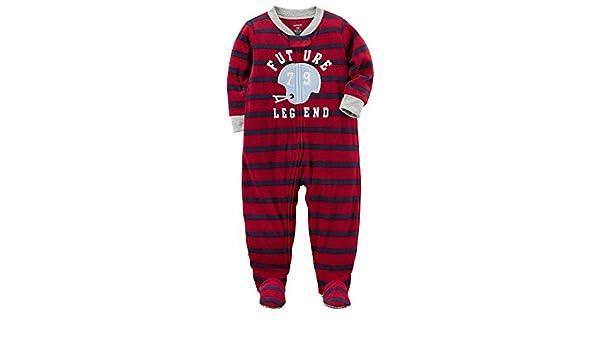 a4f92853b3 Carter's Schlafanzug Fleece 140/146 Einteiler Winter Reißverschluss für Jungen  Schlafoverall Baseball (dunkelrot): Amazon.de: Bekleidung