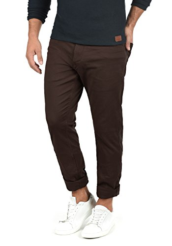 Blend Saturn Herren Chino Hose Stoffhose aus Stretch-Material Regular Fit, Größe:W32/30, Farbe:Coffee Bean Brown (71507)