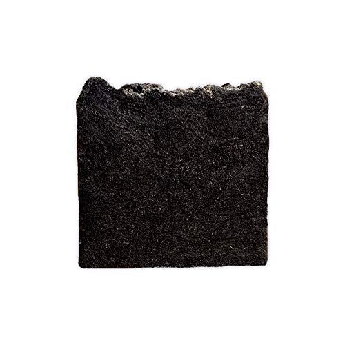 Mijo No.01 Schwarze Seife 100% Naturseife mit Bambus Aktivkohle Bio Olivenöl für Gesicht gegen Pickel unreine Haut Akne -