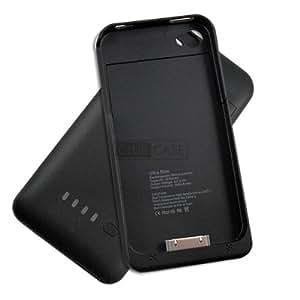 Caseink ® - Case Battery High Capacity 1900 mAh iPhone 4 / 4S Black Ultra Slim