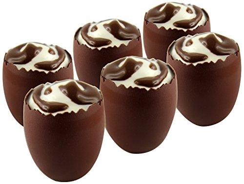KUBB K135 Coffret 6 verrines œufs Couleur Chocolat, Plastique, Hauteur : 56mm-Diamètre : 50mm