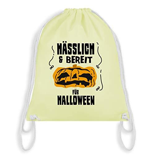 Halloween - Hässlich und bereit für Halloween - Unisize - Pastell Gelb - WM110 - Turnbeutel & Gym ()