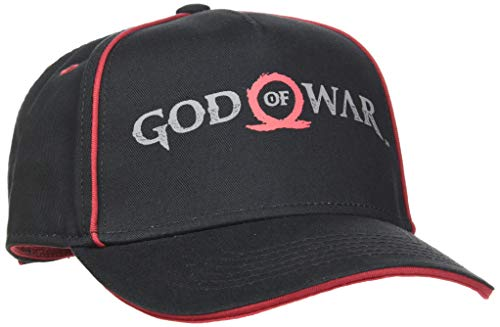 Bioworld God of War Logo Print Curved Bill Cap Casquette de Baseball, Noir (Black Black), Taille Unique Mixte