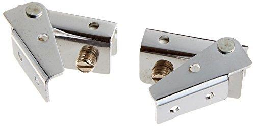 DealMux 9mm Dickes Glas-Metalltür-Verschluss Scharnier Ersatz, 2 Stück