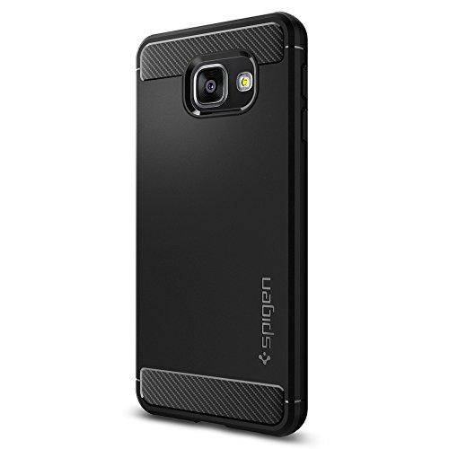 Cover  Galaxy A3 2016, Spigen [Rugged Armor] Impressionante Nero [Design Meccanica Durevole] Massima Protezione Da Cadute e Urti, Custodia Galaxy A3 (2016), Cover Samsung A3 2016, Samsung Galaxy A3 2016 - (564CS20633)
