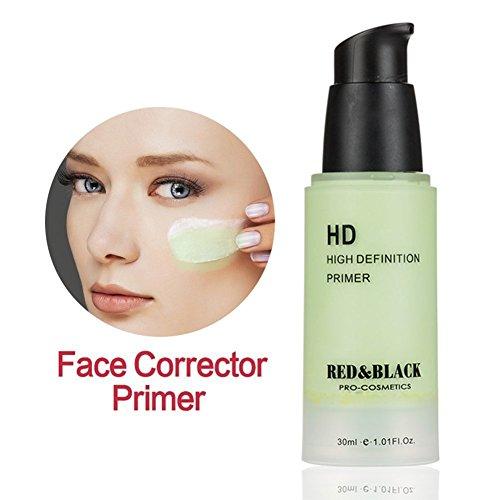 Sacelady High Definition Green Corrector Concealer Foundation Grundierung Smooth Fine Lines Shading Verschönerung für Rötung Skin 1.01 Fl Oz