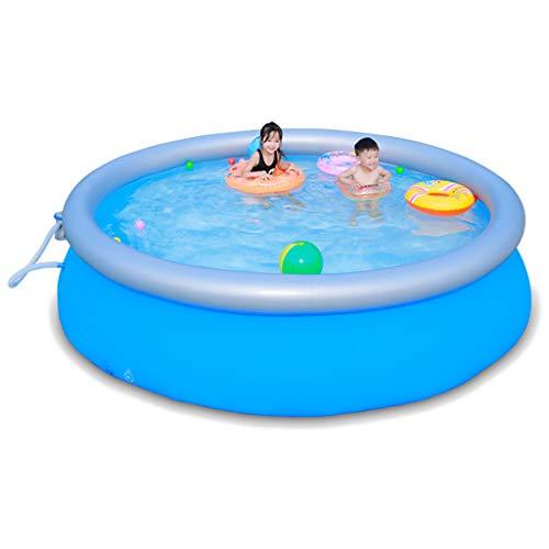 Adult bathtub Aufblasbarer Familien-Swimmingpool, aufblasbarer Bad-großer Pool-Sommer-Wasserspaß mit aufblasbarem weichem Boden und Poolabdeckung