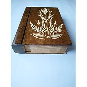 Große riesige braun magisch geheimnisvolle Zauberer Puzzle Buch – Kasten mit Geheimfach innen Überraschung…