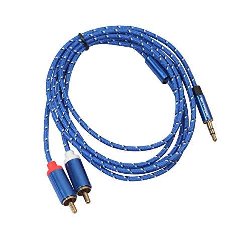 Sylvialuca 3,5 mm bis 2RCA Lautsprecherkabel 3,5 bis 2RCA Double Lotus Line Av Line Eine Minute und Zwei Audiokabel