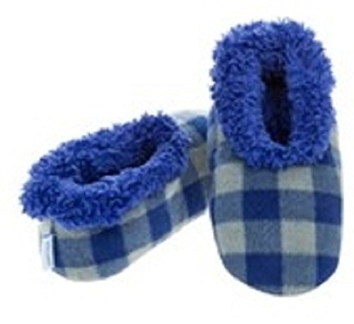 Boys Childrens Snoozies Assorted Designs Small Medium Large Novelty Slippers Buffalo Plaid Blue 1/2 UK