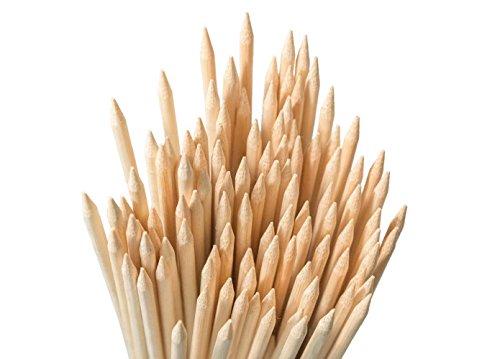 Bambus Garnelen (Bambus-Stäbe zum Marshmallowrösten, 91cm lang, extra dick, robuste Holzspieße, perfekt zum Rösten von Marshmallows, Hot Dogs, Kebab, Wurst, ökologisch und umweltschonend, 100 % biologisch abbaubar, 110 Stück pro Packung)