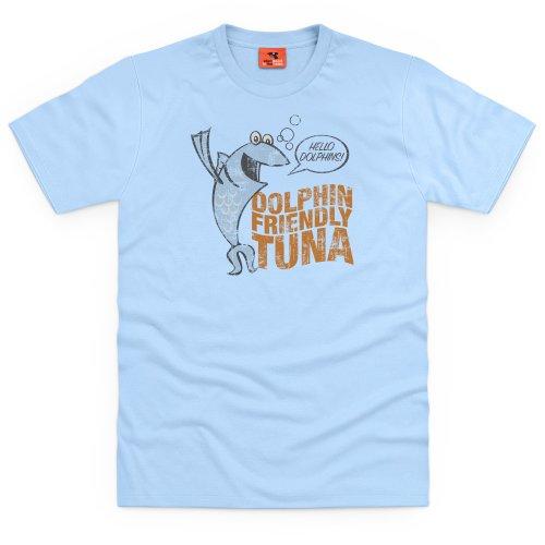 General Tee Dolphin Friendly Tuna T-shirt, Uomo Celeste