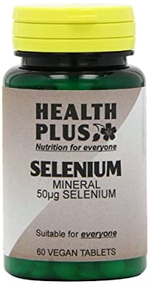 Health Plus Selenium 50µg Mineral Supplement 60 Tablets (Packs of 2 ) from Health + Plus Ltd