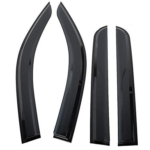 Nikou Fenstermaske - 4Pcs Window Vent Deflector Sonnenschutz Regenschutz Deflector for Toyota HILUX REVO 16-18 (Smoke)