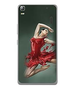 PrintVisa Designer Back Case Cover for Lenovo K3 Note :: Lenovo A7000 Turbo (Lady Dancing In Red Classy Design)