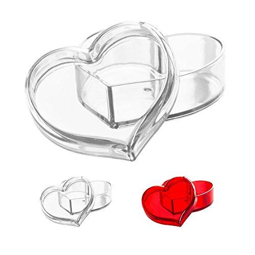 Solly´s CLARA Schmuck-Box in Herz Form, Transparent