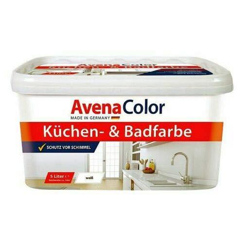 AvenaColor Küchen- & Badfarbe 5L weiß, waschbeständig