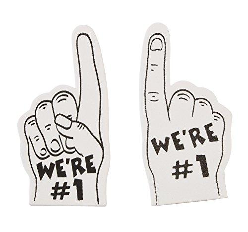 Team Spirit White Mini Fingers (12 Pack) 5