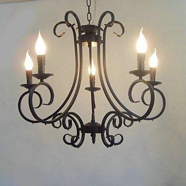Candle Eigenschaft Kronleuchter, 5 Licht, Künstlerischer klassische Malerei Metallbearbeitung