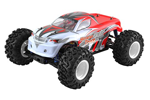 XciteRC 30330000 - ferngesteuertes RC Auto One10 Monster Truck 4WD Brushless, rot