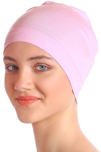 Deresina Headwear Schlafmütze Aus Baumwolle für Krebs, Haarverlust (Daisy Rosa)