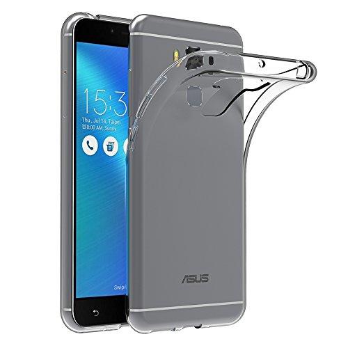 AICEK Asus Zenfone 3 Max ZC553KL Hülle, Transparent Silikon Schutzhülle für Zenfone 3 Max ZC553KL 5,5 Zoll Case Crystal Clear Durchsichtige TPU Bumper Asus Zenfone 3 Max ZC553KL Handyhülle