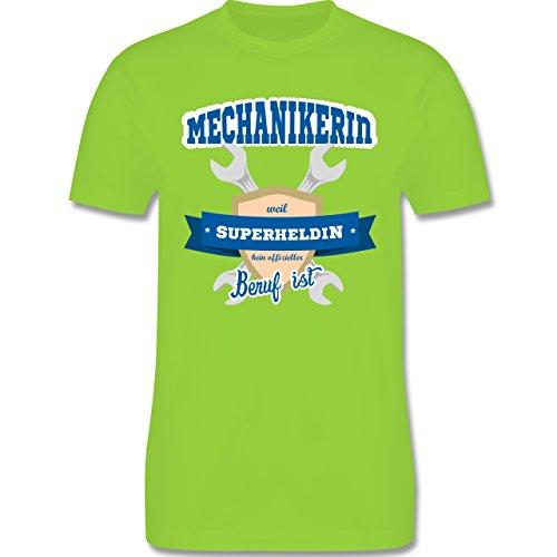Handwerk - Mechanikerin - weil Superheldin kein offizieller Beruf ist - Herren Premium T-Shirt Hellgrün