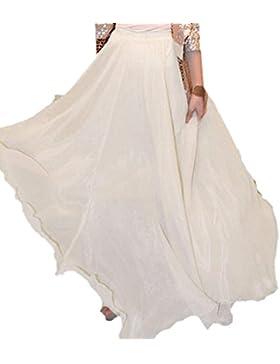 Minetom Donne Casuali Gonna Lunga Abito Estivo Abbigliamento Da Spiaggia ( Bianco )