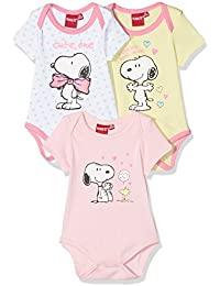 FABTASTICS Body Bébé Fille, Lot de 3